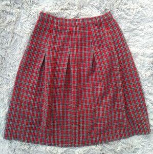 Vintage | Plaid Midi Skirt